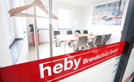 Besprechungsraum der heby Brandschutz GmbH Düsseldorf